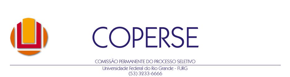 COPERSE - Comissão Permanente do Processo Seletivo - FURG